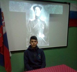 Ученик Александар Савић у улози Врангела